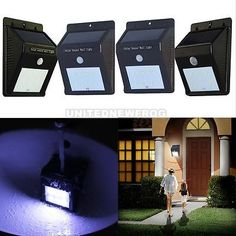 1pcs LED Solar Power Motion Sensor Garden Secur... - Exclusively on #priceabate #priceabateFarmGarden! BUY IT NOW ONLY $11.79