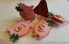 Pigs with Stampin up Owl punch!