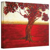 Brushstone 'Ethereal Tree II' by Herb Dickinson, Gallery Wrapped Canvas, a brilliant example of giclee art printed on high-quality canvas portraying a brightly colored Asian red abstract tree. A serene addition to the home or office Canvas Artwork, Canvas Art Prints, Painting Prints, Framed Prints, Warm Colour Palette, Red Art, Contemporary Paintings, Online Art Gallery, Ethereal