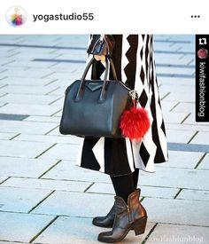 Instagram / Blogger Recommended Red Raccoon Fur Pom Pom luxury bag pendant keychain bag charm