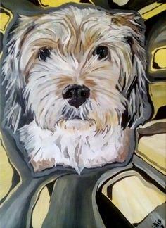 """Luna"", Hund, dog, Acrylicpainting, Hunde, dogs, Acrylmalerei Dogs, Animals, Fictional Characters, Art, Pet Dogs, Art Background, Animales, Animaux, Kunst"