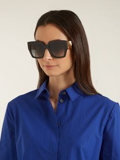 fd0b6ff9bf FENDI Fabulous Cat-eye two-tone acetate sunglasses in 2019