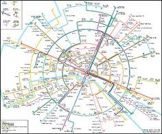 Plan du métro de Parsi circulaire