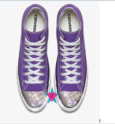 77550016fd06a Custom Crystal Bling Rhinestone Purple Converse Chuck Taylor