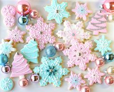 Pastel Christmas Cookies cookies pastel christmas merry christmas merry x-mas ornaments christmas pictures xmas christmas images christmas cookies christmas decorations happy holidays snowflakes