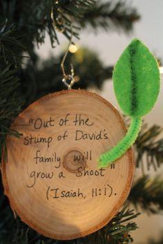 Spark and All - Jesse Tree Ornaments - Stump of Jesse