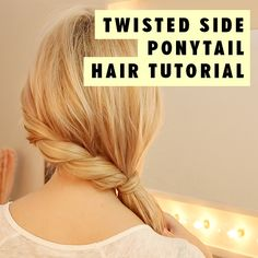 Looking for a simple yet oh-so-pretty hairstyle to rock this weekend? Then look no further than our latest hair how-to: this easy-peasy twisted side ponytail hair tutorial! Ponytail Hairstyles Tutorial, Braided Hairstyles Tutorials, Twist Hairstyles, Hair Tutorials, Wedding Hairstyles, Side Ponytails, Twist Ponytail, Sleek Ponytail, Messy Ponytail Tutorial