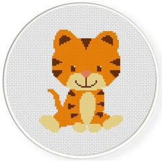 Charts Club Members Only: Baby Tiger Cross Stitch Pattern