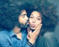 natural love between black natural hair couples