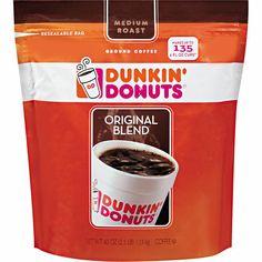 DUNKIN•DONUTS Coffee Original Blend 40 oz Ground Medium Roast ALWAYS FRESH #DunkinDonuts