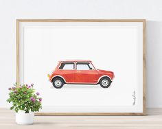 Mini Cooper Print, Car Print, Transportation Print, Teenager Decor, Printable Car, Big Boy Girl Room Decor, Vehicle, Vintage Car Print #mini #cooper #car #print #printable #big #boy #bedroom #boys #girls #ideas #decor #wall #art #toddler #DIY #for #kids #children #etsy #twin #blue #yellow #red #watercolor #playrooms #nursery #themes #transportation #vehicle #poster #teenager #gift #father #bithday #vintage By MORILAND Wall Art