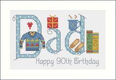 Dad Birthday Card Kit - Nia Cross Stitch