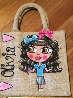 hand painted personalised jute Child School Lunch bags Source by Personalised Jute Bags, Textiles, Lunch Bags, Painted Shoes, School Lunch, Diy And Crafts, Burlap, Reusable Tote Bags, Hand Painted