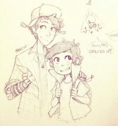 Older Dipper and young Dipper!