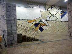 Querubim Lapa | Estação / Station Bela Vista | Metropolitano de Lisboa / Lisbon Underground | 1998 #Azulejo #QuerubimLapa #MetroDeLisboa