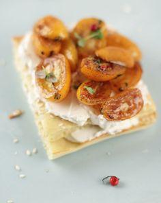 Aufstrich: Ziegenfrischkäse mit karamellisierten Kumquats