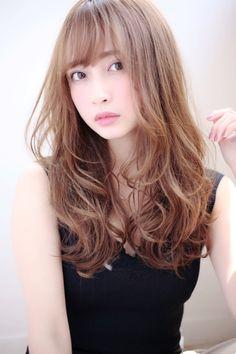 Pin on ヘアー Medium Long Hair, Long Hair Cuts, Medium Hair Styles, Curly Hair Styles, Permed Hairstyles, Short Hairstyles For Women, Chic Haircut, Hair Setting, Mid Length Hair