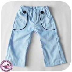Ben & Mia Pants with Pockets for Boy and Girl by TheLilyBirdStudio, $6.90
