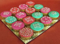 Decorating cupcakes in beautiful henna designs is a wonderful addition to your Eid party table.