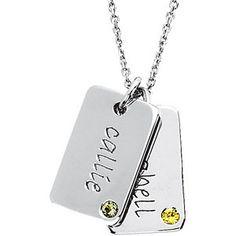 Posh Mommy® Engravable Mini Dog Tag Pendant Mounting | Stuller.com