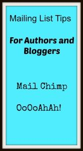 Authors Using a Mailing List- Mail Chimp OoOoAhAh!
