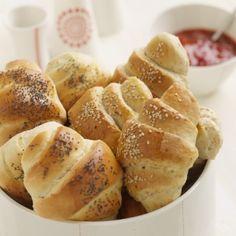 Fresh bread rolls.