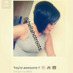 #selfies from clients with sweet messages♡ #haircut and color by me