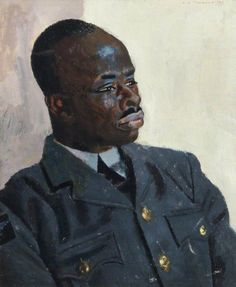 Portrait of Aircraftman 1st Class, J. D. S Gordonu, RAF Halton, 1943 by Alfred Reginald Thomson (British 1894–1979)