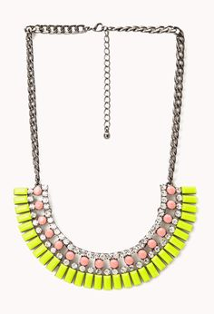 Neon Pop Fringed Bib | FOREVER21 - 1000108018