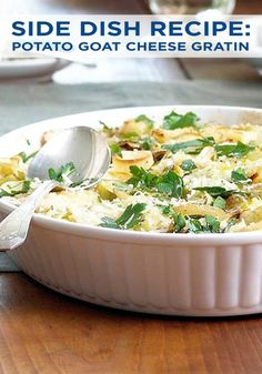 Change up your typical potato side dish recipe at your Sunday dinner this week. This recipe combines goat cheese, leeks, panko, and Yukon gold potatoes. It's sure to be a hit with your whole family!