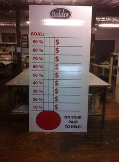 Giant Church Goal Thermometer   Design Custom Goal and Fundraising ...