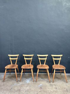 Vintage 4 x  ERCOL STACKING ADULT GREEN DOT DINING CHAIRS.RETRO.DANISH  g plan  in Antiques, Antique Furniture, Chairs | eBay!