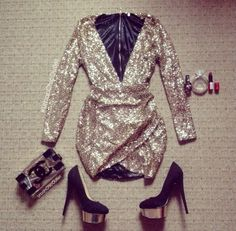 Shop from the best fashion sites and get inspiration from the latest glitter dress. Club Dresses, Sexy Dresses, Beautiful Dresses, Dress Outfits, Evening Dresses, Short Dresses, Dress Up, Cute Outfits, Fashion Outfits