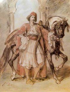 Delacroix, Greek Fighter, c. 1820