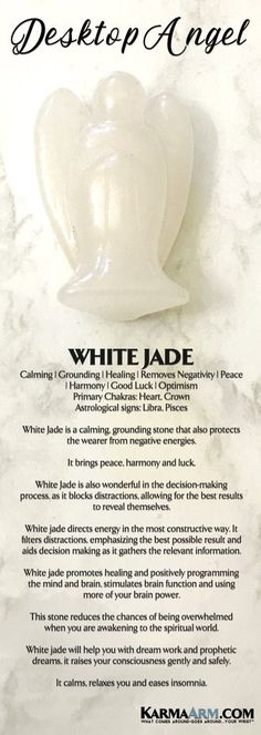 Meditation & Prayer Statues | Angels are messengers from Heaven who are here to love, support, comfort, protect, heal and guide us. #Angels provide hope and happiness. #White #Jade #gifts #Chakra #Reiki