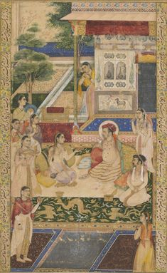 """Jahangir and Prince Khurram Entertained by Nur Jahan"" ca. 1640-50. F1907.258 Freer-Sackler Gallery of Art."