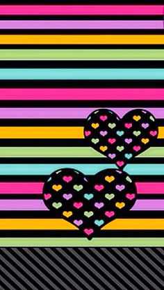 HEARTS AND STRIPES IPHONE WALLPAPER BACKGROUND