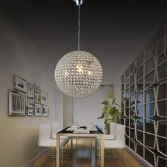 Rodada lustre de cristal de luxo levou restaurante lâmpada lustre de cristal quarto lustre den para tensão 90-260 V