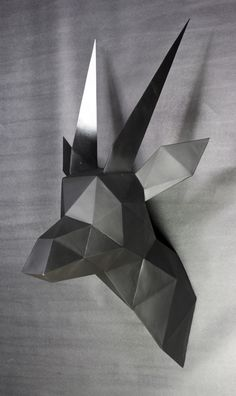 TRIANGULATED: Geometric Animal Busts - Series I by Keaton Van't Hull, via Behance