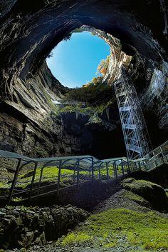 Magnificent underground cave in Dordogne, Rocamadour, France                                                                                                                                                                                 More