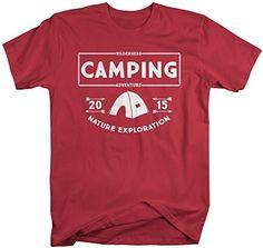 34807dbf679 Men s Camping T-Shirt 2015 Wilderness Adventure Camper Shirts