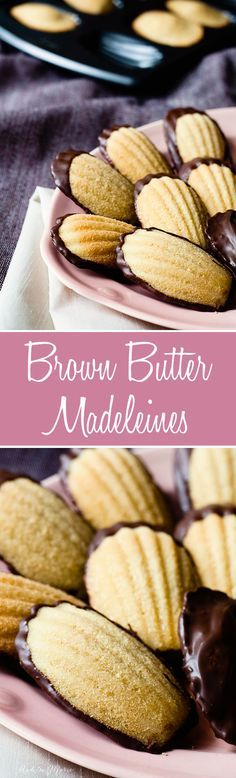 these light brown butter madeleines are like mini cakes, soft inside with a slight crunch on the outside