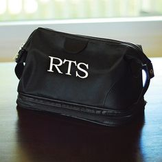 Groomsmen gift  Exclusively Weddings | Personalized Men's Toiletry Bag