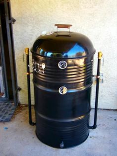 Ugly Drum Smoker (UDS) I built from a 55 gallon food grade drum using directions I read and video I watched.