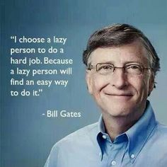 Lazy vs Hard working. .