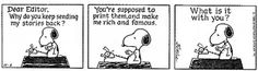 Susanna Fraser: Snoopy and my writing dreams