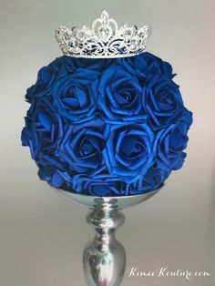 New Party Decorations Silver Sweet 16 Ideas Crown Centerpiece, Sweet 16 Centerpieces, Sweet 16 Decorations, Quince Decorations, Wedding Table Centerpieces, Baby Shower Centerpieces, Quince Centerpieces, Wedding Decoration, Centerpiece Ideas