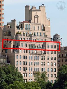 1040 Fifth Avenue - Jacqueline Kennedy Onassis bought the entire 15th floor in 1964 for $250,000 and lived there until she died in 1994. The apartment was acquired by David Koch for $9 1/2 million after her death in 1996. He sold it in 2006.
