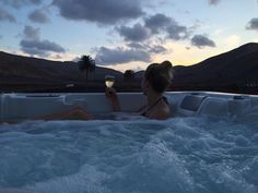 The rooftop hot tub at boutique hotel La Casona de Yaiza is one of our favourite hidden gems in Lanzarote and probably the best place to stay