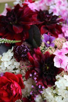 Autumn Flower Bouquet -  Dahlia, Hydrangea & Co